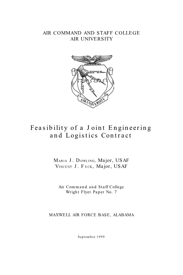 Feasibility of a Joint Engineering and Logistics Contract
