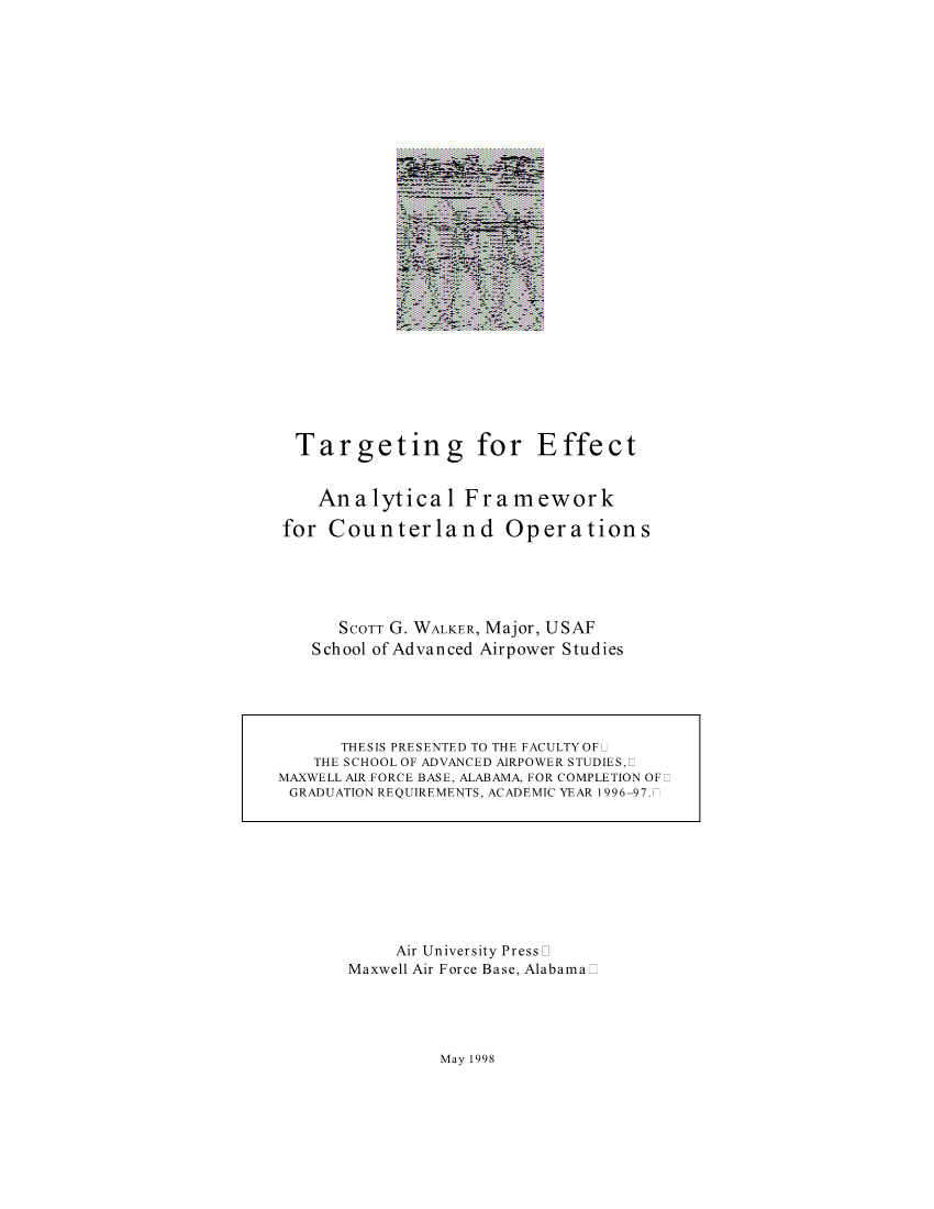 Targeting for Effect