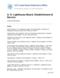 U. S. Lighthouse Board, Establishment & Service