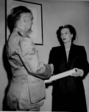 Mrs. Edith Munro Accepting Award