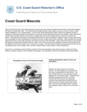 An illustrated overview of the various types of mascots that have gone to sea or served ashore with the Coast Guard