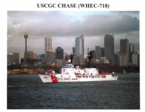 A series of PDF images of USCGC CHASE during her Coast Guard career.