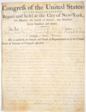 Act of Congress authorizing the construction of 10 revenue cutters as signed by George Washington on August 4, 1790.