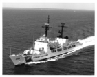 A pdf scan of a photo of USCG CHASE underway at sea