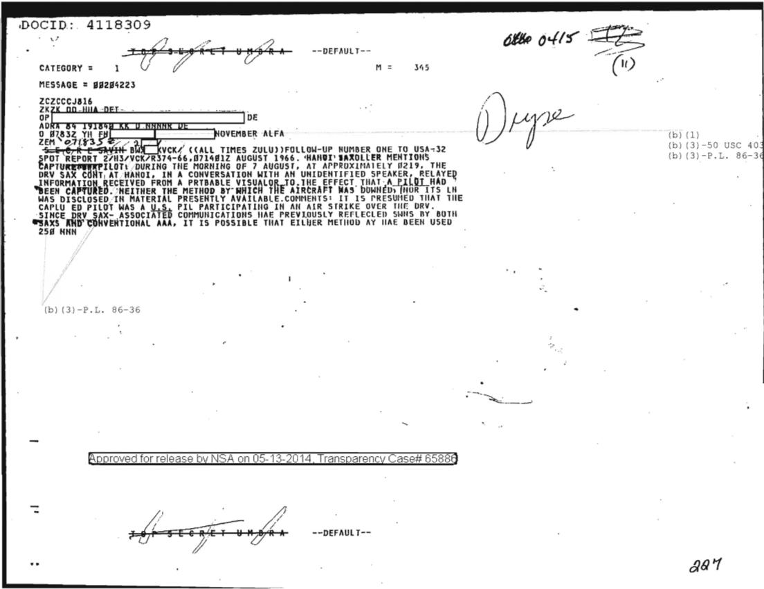 HANOI SAM CONTROLLER MENTIONS CAPTURE OF PILOT, FOLLOW UP NR ONE 0420.PDF