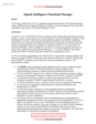 Presidential Transition 2016 Signals Intelligence Functional Manager brief