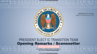2016 Presidential Transition: Transition Team Opening Remarks