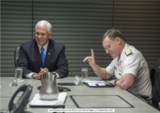 Vice President Pence visits NSA to visit Admiral Rogers on 6 September 2017 (photo)