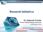 Presidential Transition 2016 Research Initiatives brief