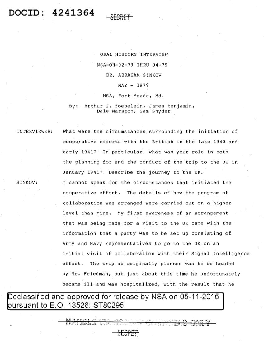 NSA-OH-02-79-SINKOV.PDF