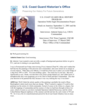 U.S. COAST GUARD ORAL HISTORY PROGRAM Operation Noble Eagle Documentation Project  Attack on America: September 11, 2001 and the U.S. Coast Guard  Interviewee: Admiral James Loy, USCG Commandant  Interviewer: PAC Peter Capelotti, USCGR   Date of Interview: 27 March 2002   Place: Office of the Commandant